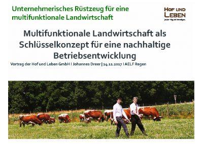 Multifunktionale Landwirtschaft als Schlüsselkonzept für eine nachhaltige Betriebsentwicklung